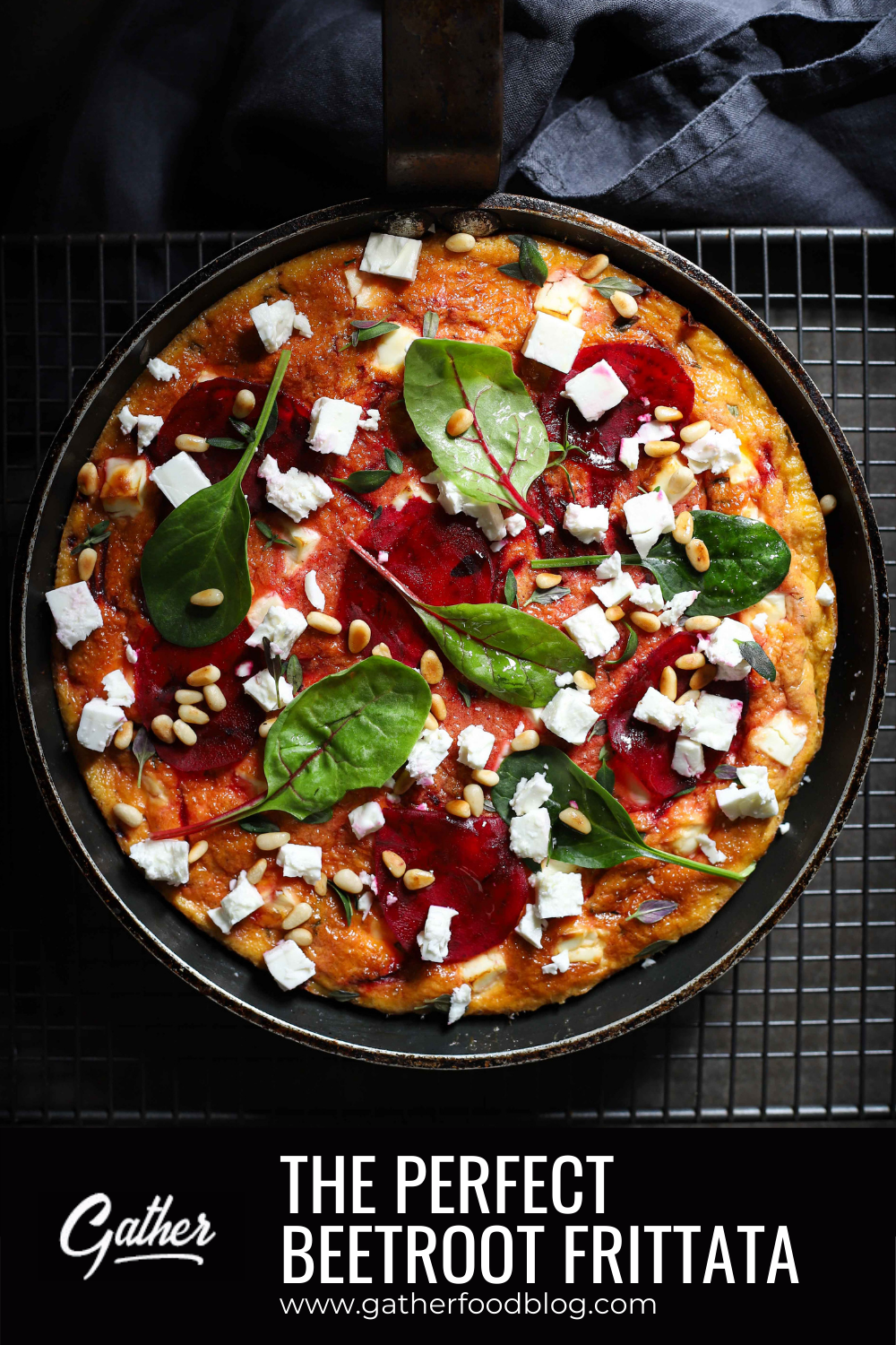 This low carb frittata is a stunner! A delicious beetroot and feta frittata with flavours of balsamic, thyme & red onion. An easy keto recipe